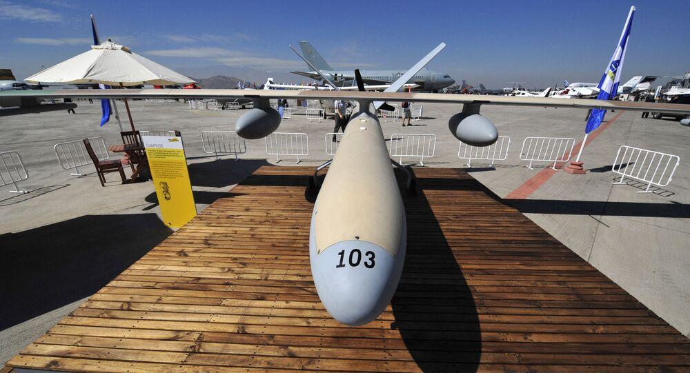 طائرة مسيرة إسرائيلية طراز هيرميس 450 متخصص في عمليات التجسس