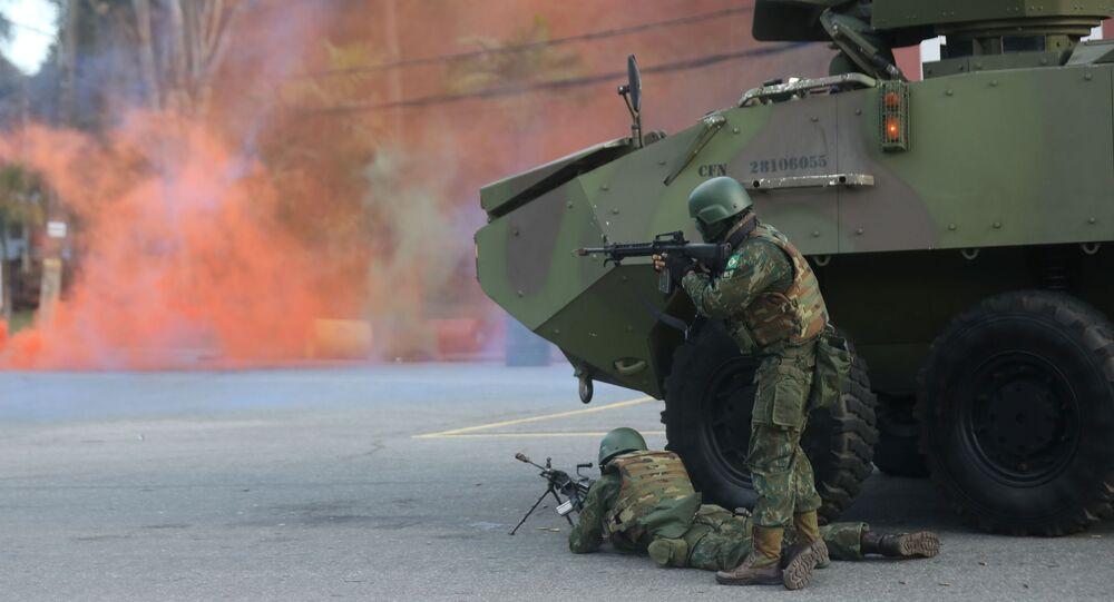 التدريبات العسكرية للبحرية البرازيلية