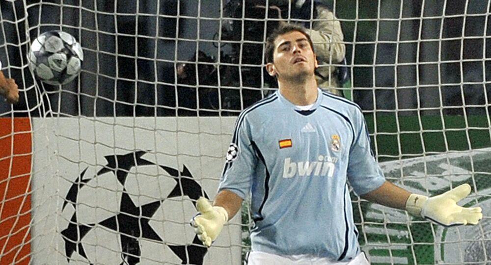 كاسياس حارس مرمى ريال مدريد في 2008