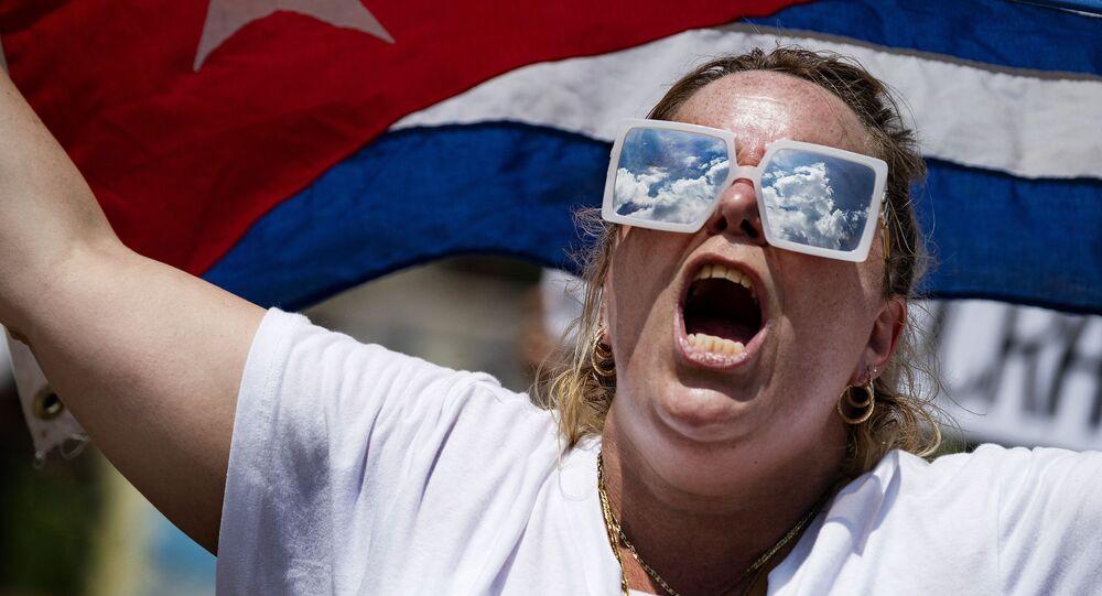 احتجاجات لدعم كوبا