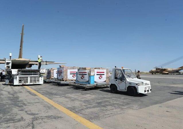 وصول طائرات عسكرية مصرية محملة بمساعدات طبية لمطار تونس قرطاج الدولي