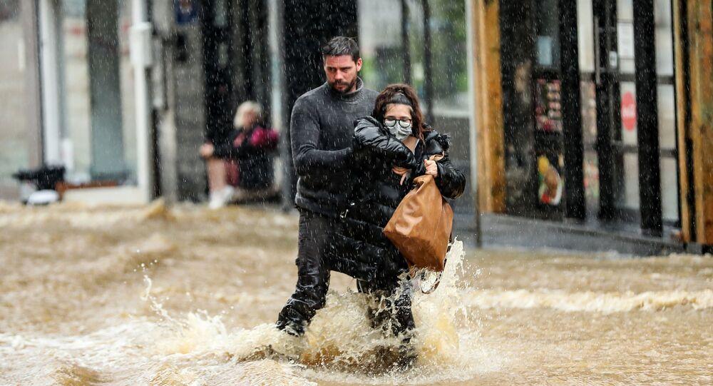 فيضان هائل في سبا، بلجيكا
