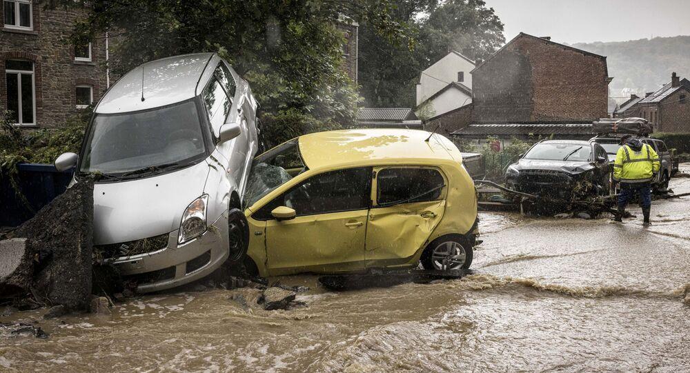 فيضان هائل في ميري، بلجيكا