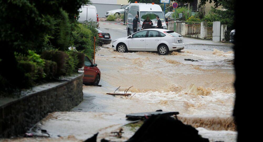 فيضان هائل في هاغن، ألمانيا