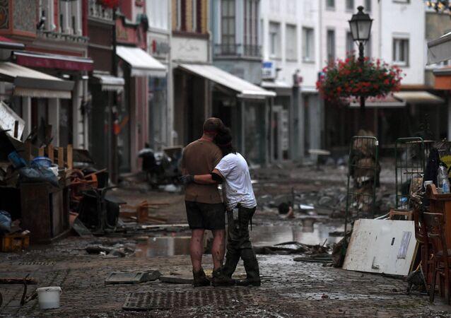 فيضان ضخم أصاب بلدة باد نوينار-آرفايلر ألمانيا 16 يوليو 2021