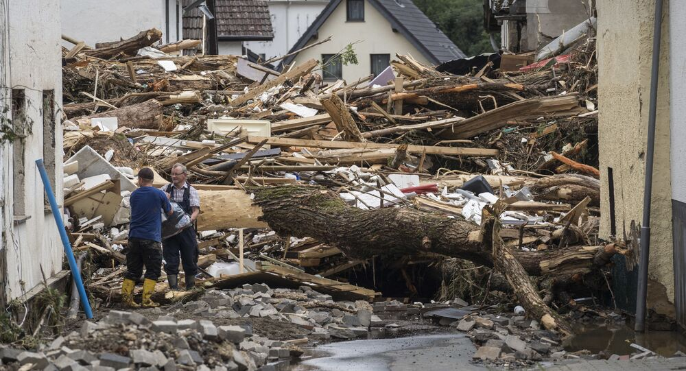 تداعيات فيضان ضخم أصاب بلدة شولد، ألمانيا 16يوليو 2021