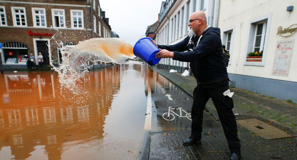 تداعيات فيضان ضخم أصاب مدينة إرفتشتات، ألمانيا 16يوليو 2021