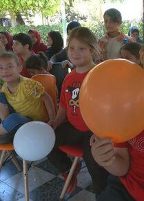 الأطفال المصابين بمتلازمة داون والتوحد في قطاع غزة
