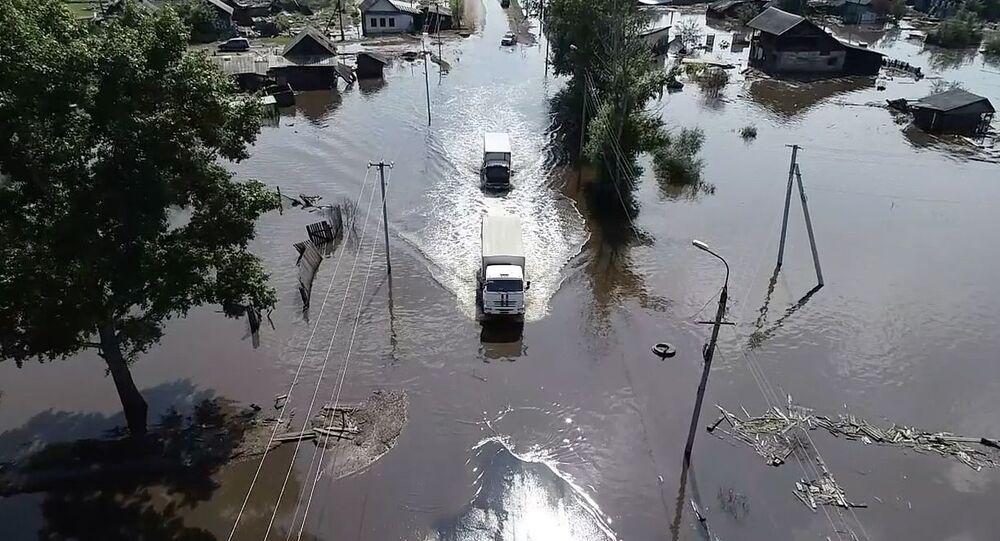 الفيضانات في منطقة إيركوتسك