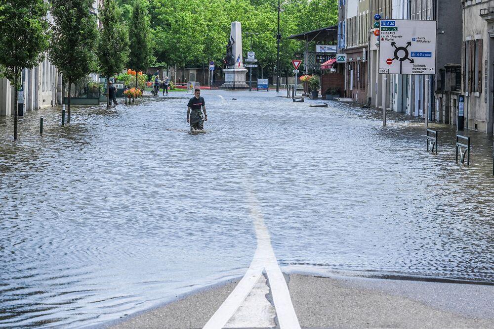 فيضانات في فرنسا