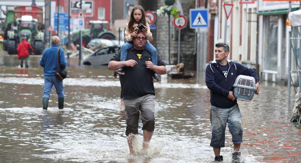 فيضانات في بلجيكا