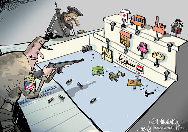 درون أمريكي يستهدف شاحنة نقل مواد غذائية في سوريا