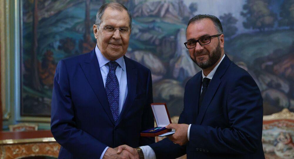 تكريم صحفي سبوتنيك نواف إبراهيم