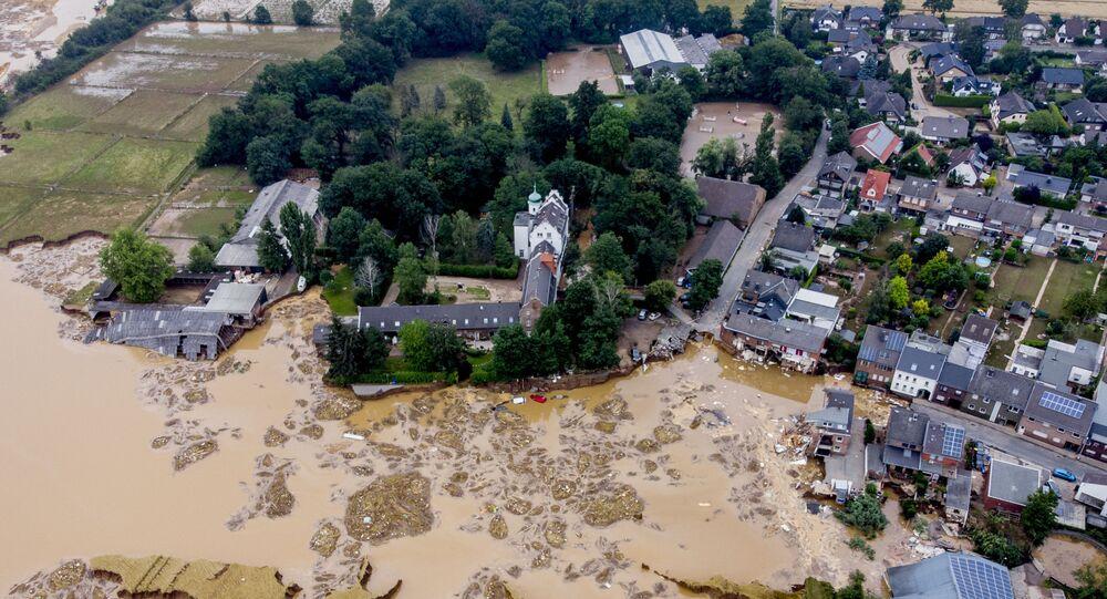 قلعة أثرية دمرت إثر فيضان ضخم أصاب مدينة إرفتشتات، ألمانيا 17 يوليو 2021