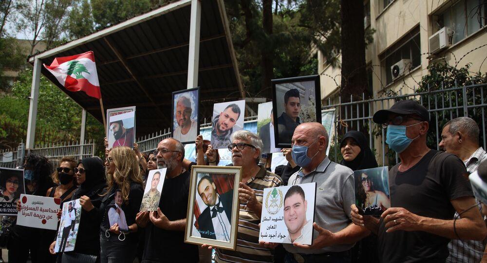 وقفة تحذيرية لأهالي ضحايا إنفجار مرفأ بيروت