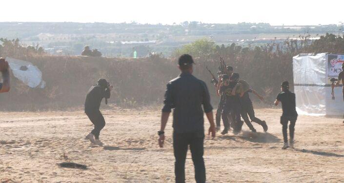 مخيمات صيفية في غزة لتدريب الأطفال على البرامج العسكرية