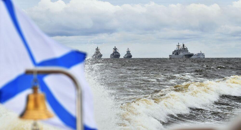 عيد البحرية الروسية في سان بطرسبورغ