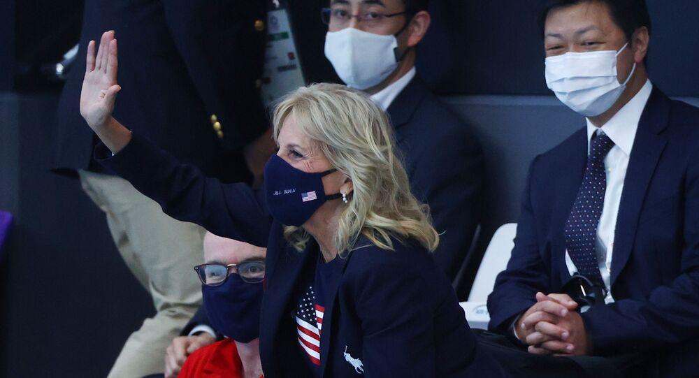 زوجة الرئيس الأمريكي جيل بايدن في أولمبياد طوكيو