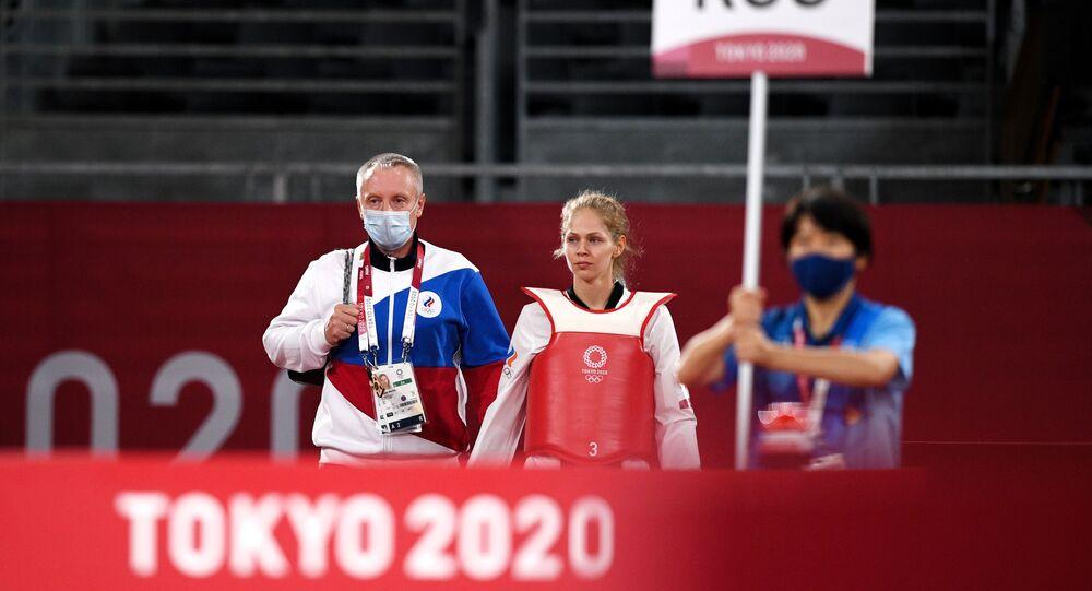 الروسية تاتيانا مينينا تحصل المركز الثاني في مسابقة التايكواندو في أولمبياد طوكيو