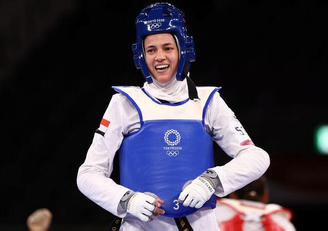 لاعبة التايكوندو المصرية هداية ملاك في أولمبياد طوكيو 2020