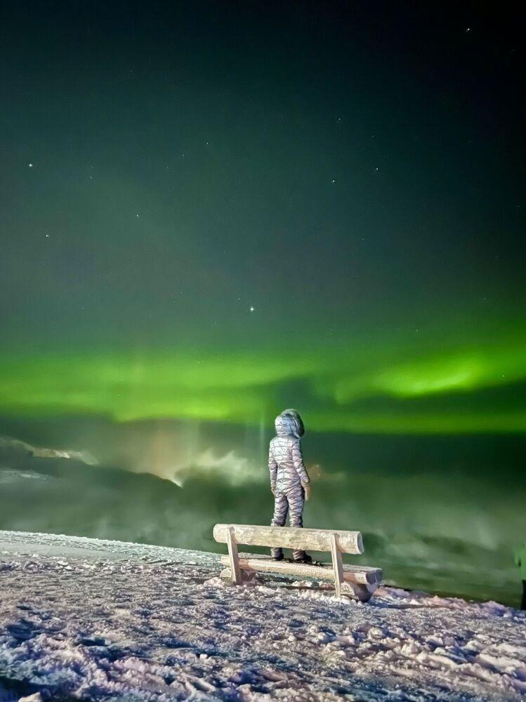 صورة بعنوان سحر الشفق القطبي، للمصورة الروسية تاتيانا ميرزلياموفا، الحائزة على المركز الأول في فئة السفر من مسابقة التصوير الدولية IPPAWARDS 2021