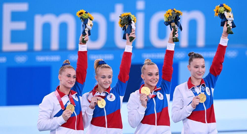فريق الجمباز الروسي في أولمبياد طوكيو 2020