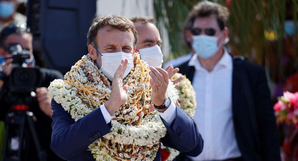 الرئيس الفرنسي غيمانويل ماكرون