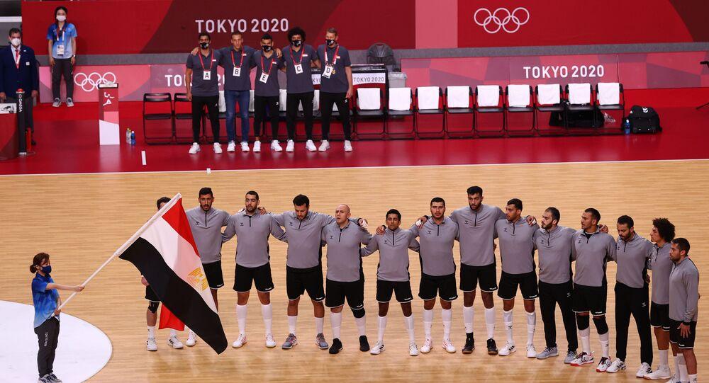 المنتخب المصري لكرة اليد قبل مبارة اليابان 28 يوليو 2021