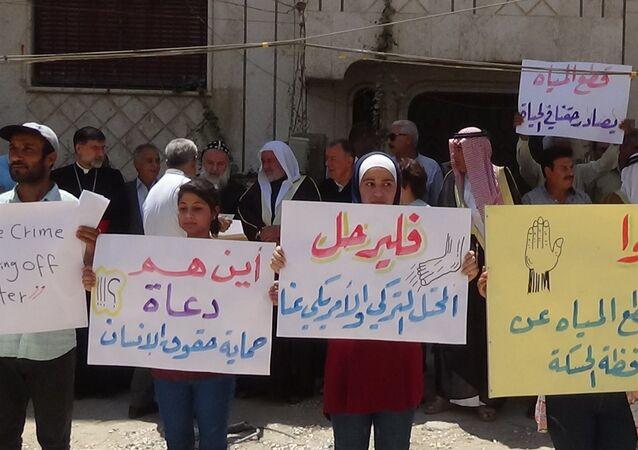 سكان الحسكة السورية يطالبون الصليب الأحمر بالتدخل الفوري لوقف جريمة مياه الشرب