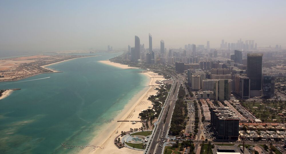 مشهد جوي لمدينة أبوظبي في الإمارات العربية المتحدة