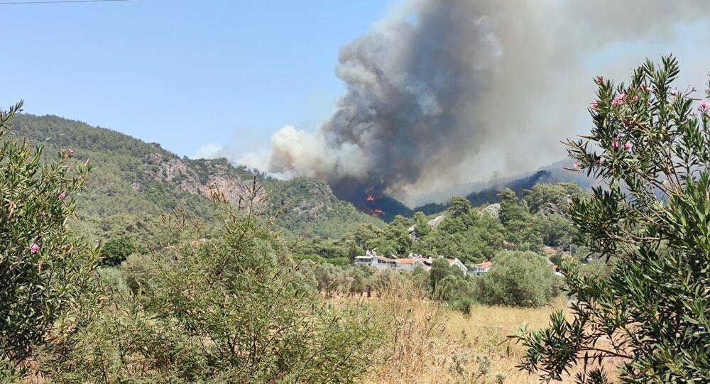 الحرائق تدمر قرية تركية بالكامل