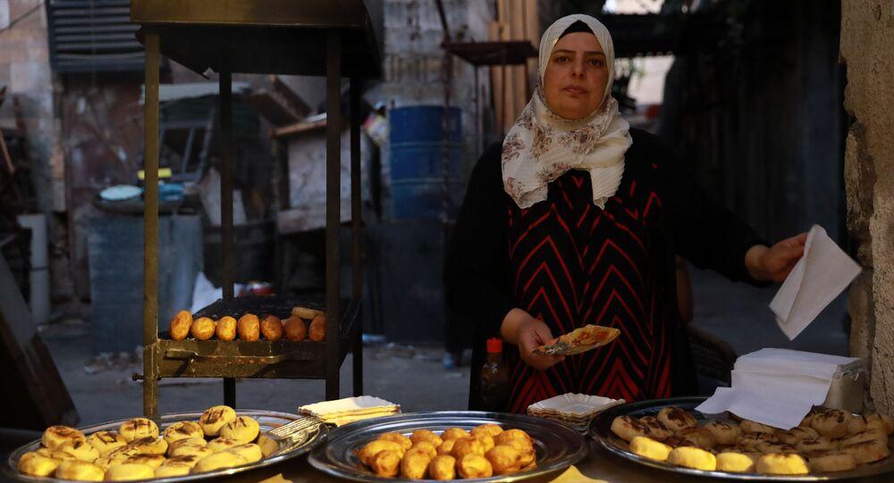 نسيبة الغربي، بائعة الكبة الحلبية، سوريا 2 أغسطس 2021