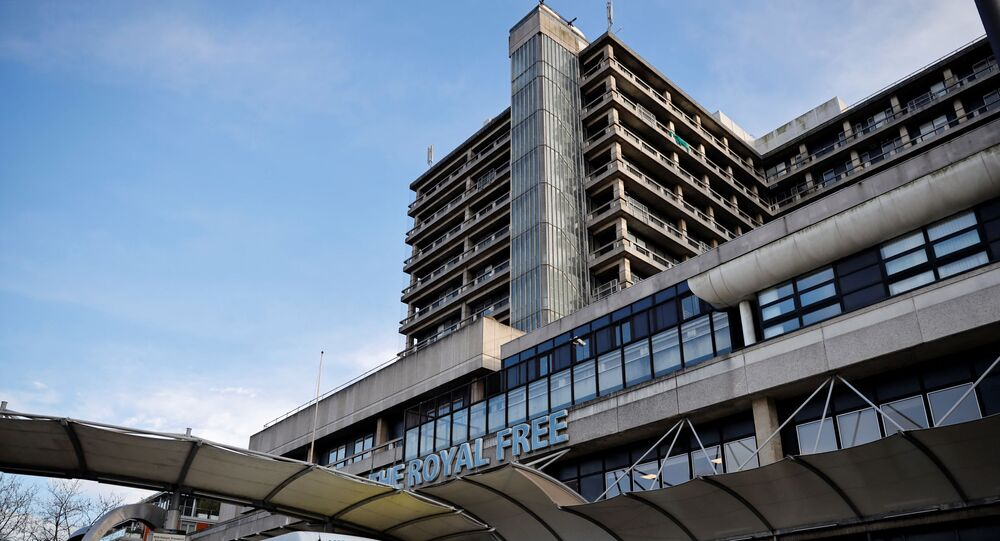 مستشفى رويال فري في العاصمة البريطانية لندن