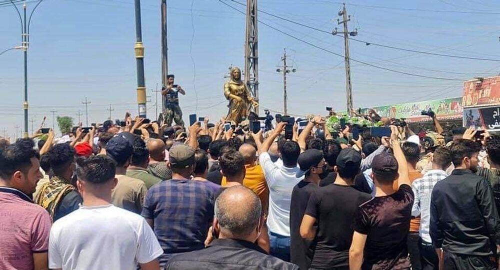 نصب تذكاري للأم كولي، أول امرأة عراقية ايزيدية تقتل أميرا داعشيا شمال العراق