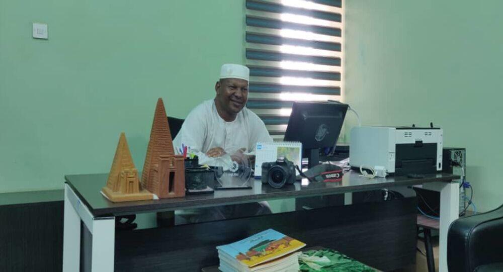 محمود سليمان مدير موقع التراث العالمي التابع لليونسكو في جزيرة مروي التاريخية بالسودان