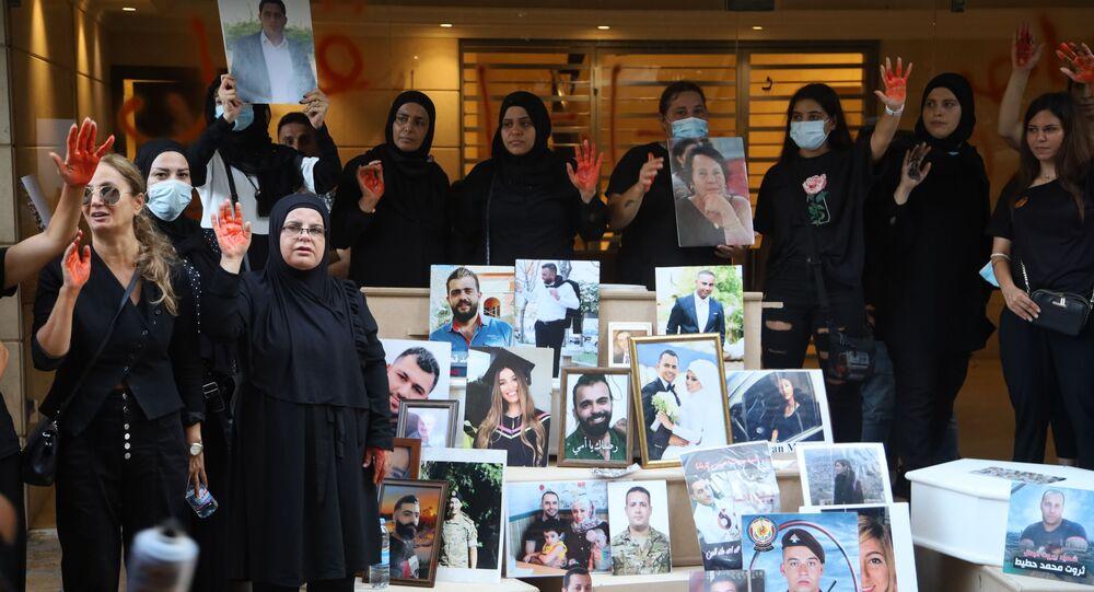 الذكرى الأولى على انفجار مرفأ بيروت، لبنان 4 أغسطس
