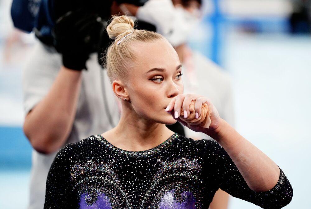 لاعبة الجمباز الروسية أنغيلينا ميلنيكوفا