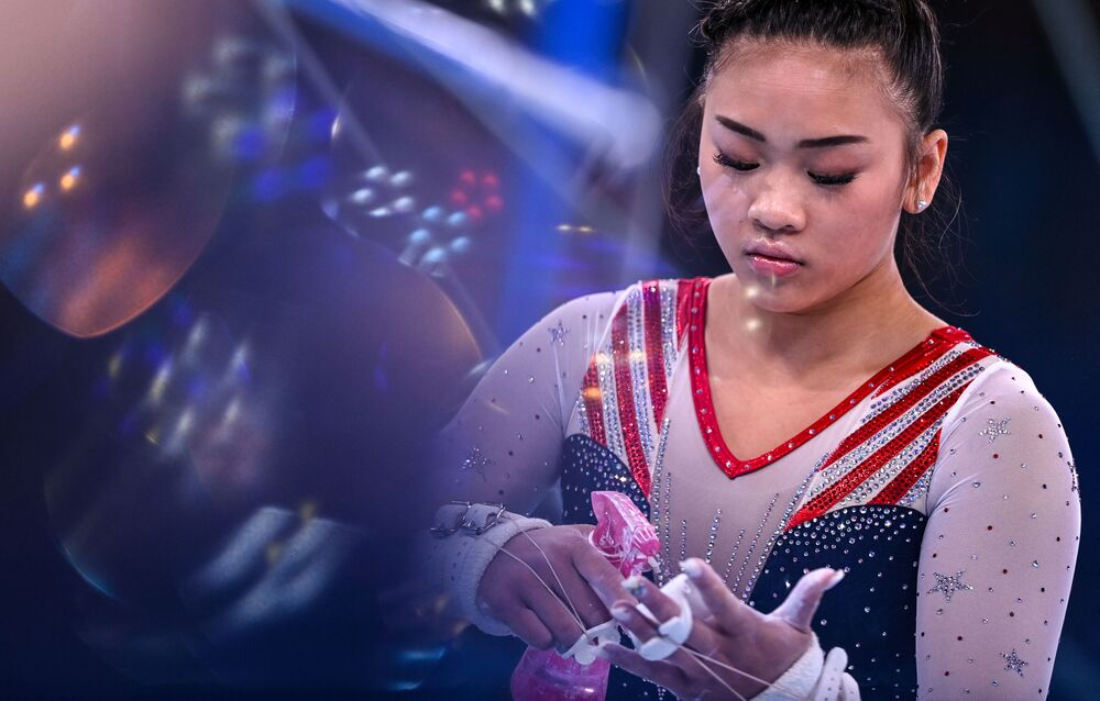 لاعبة الجمباز الأمريكية سونيسا لي