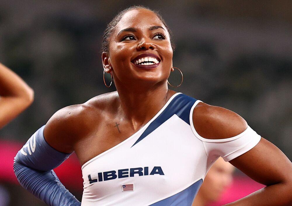 الليبيرية إبوني موريسون في ألعاب القوى - حاجز 100 م للسيدات