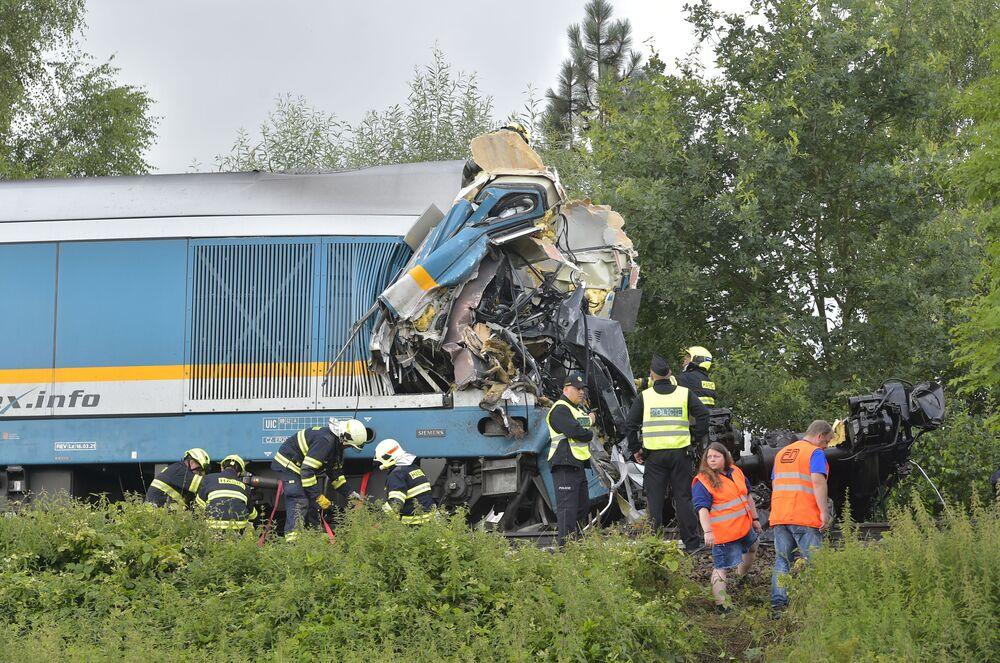 اصطدام قطاري ركاب  بلدة دومازيتش في جنوب غرب جمهورية التشيك، 4 أغسطس 2021