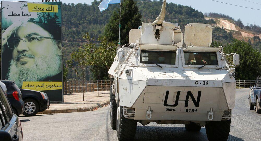 قوات حفظ السلام التابعة للأمم المتحدة، على الحدود اللبنانية مع إسرائيل، العديسة، جنوب لبنان 6 أغسطس 2021