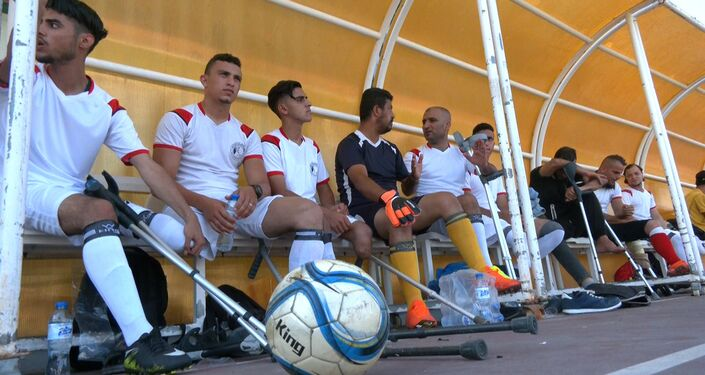 الرياضة باب الأمل لمبتوري الأطراف في قطاع غزة