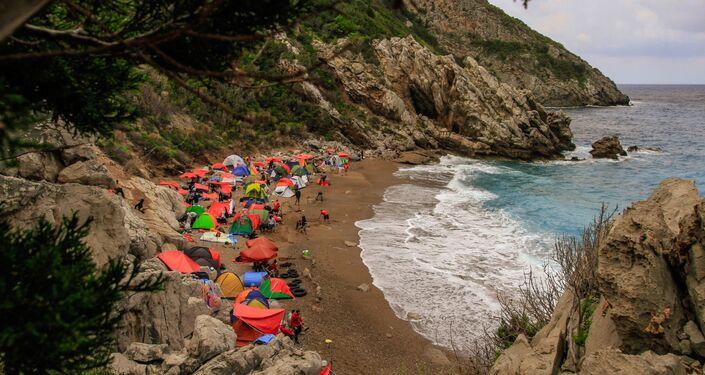 ناشطون بيئيون يكتشفون أول كهف بحري على الساحل السوري