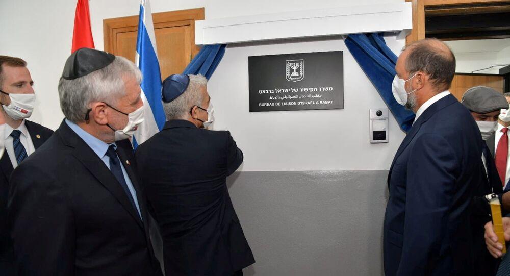 وزير الخارجية الإسرائيلي يائير لبيد يفتتح مكتب الاتصال الإسرائيلي في الرباط