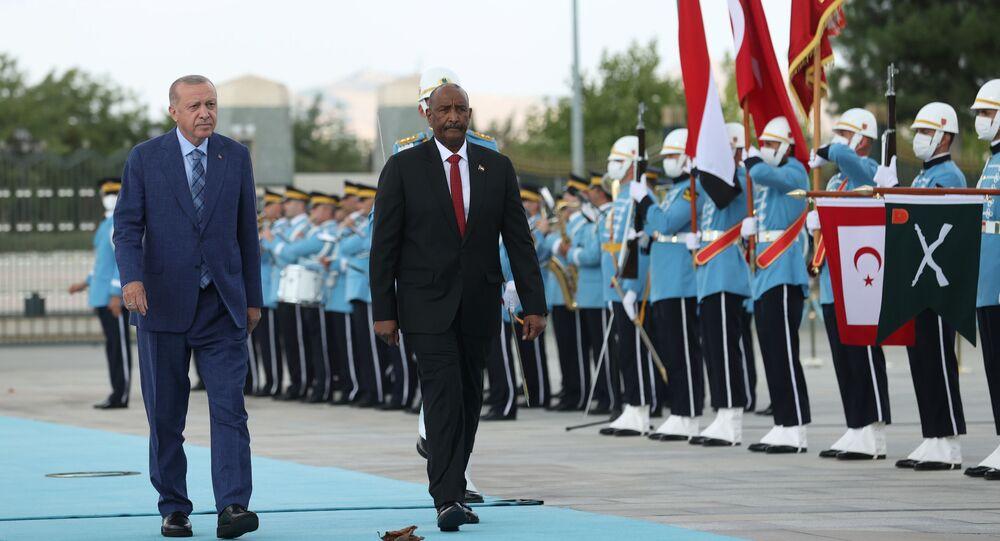 الرئيس التركي رجب طيب أردوغان يستقبل رئيس مجلس السيادة السوداني عبد الفتاح البرهان  في أنقرة