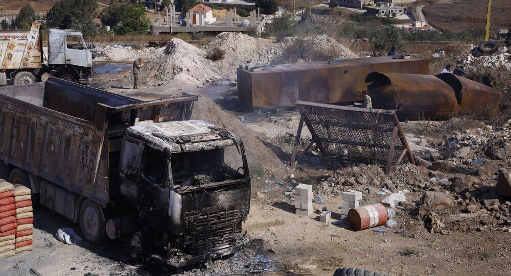 إنفجار عكار شمال لبنان