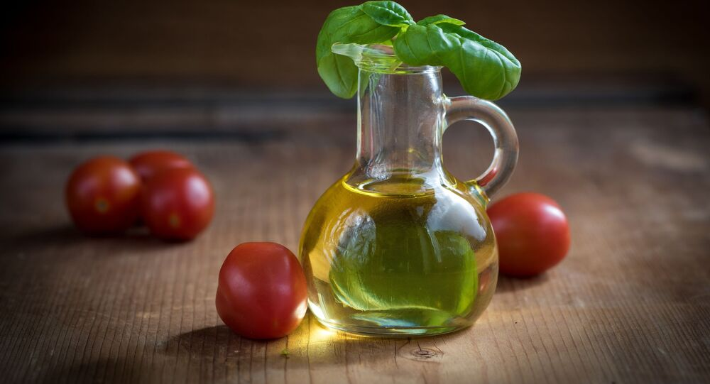 الطماطم مع زيت الزيتون