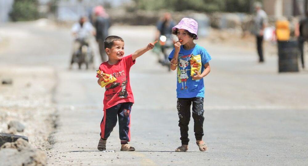 صور من أطراف بلدة زملكا في غوطة دمشق الشرقية في سوريا