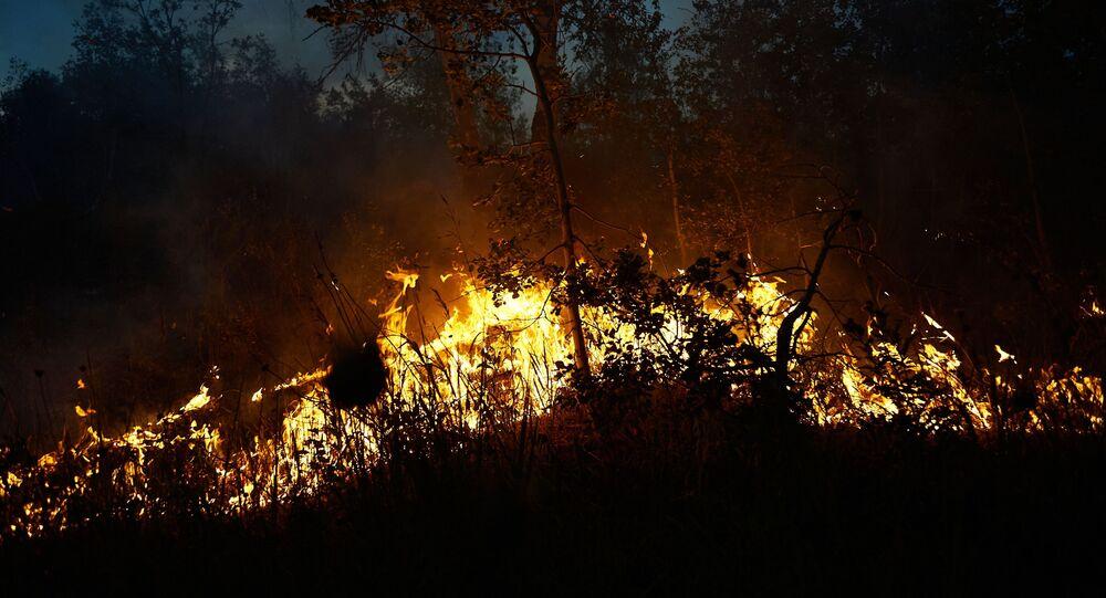 حريق في بشكيريا