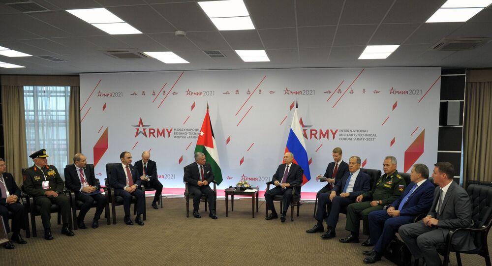 الرئيس الروسي فلاديمير بوتين وملك الأردن عبدالله الثاني